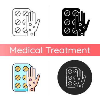 Pills for allergy icon
