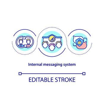 Internal messaging system concept icon