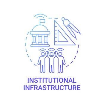Institutional infrastructure gradient blue concept icon