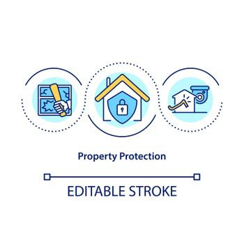 Property protection concept icon