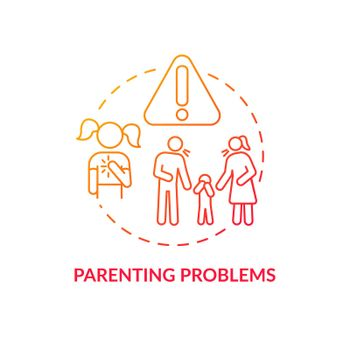Parenting problem red concept icon