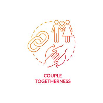 Couple togetherness red concept icon