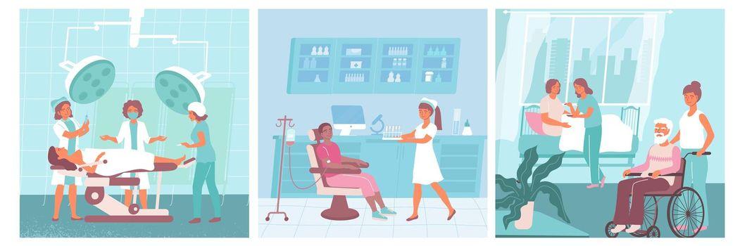 Nurse Flat Icon Set