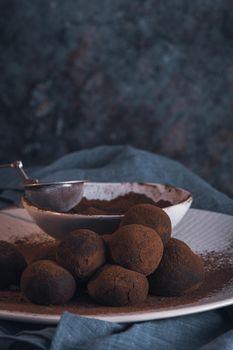 Craft chocolate truffles