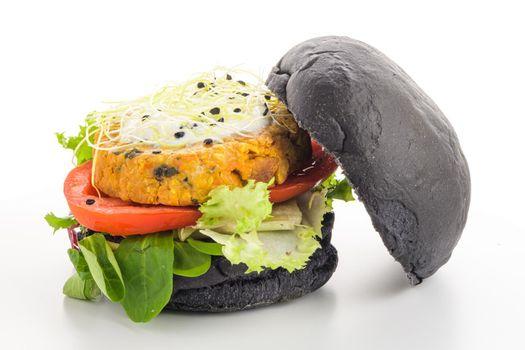 Tasty grilled veggie burger