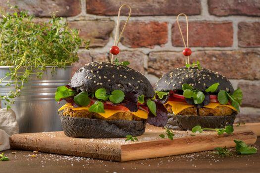 Tasty grilled veggie burgers