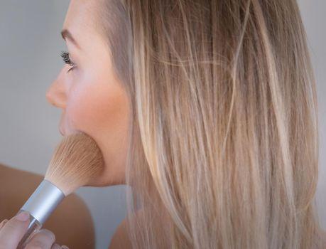 Pretty Girl Doing Makeup