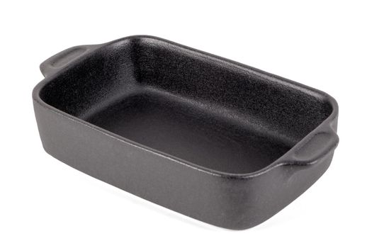 Black rectangular pot for stove
