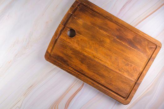 Rectangular shaped wood cutting board