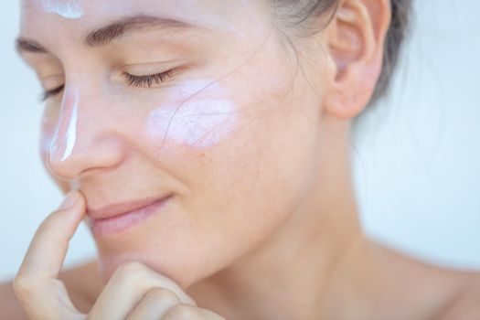 Using Face Cream
