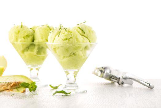 Melon flavored ice-cream