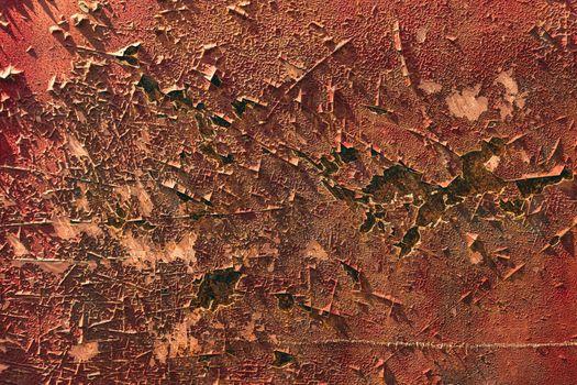 Old metal iron panel