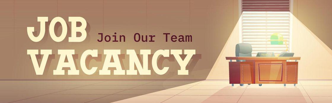 Vector poster of job vacancy, hire staff
