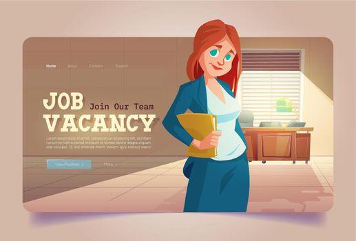 Vector banner of job vacancy, hire staff