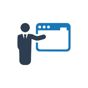 """Meticulously Designed """"SEO training icon. Meticulously designed vector EPS file."""""""