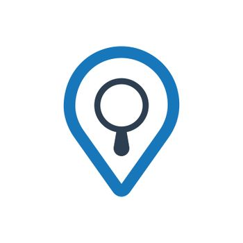 """Meticulously Designed """"Search Map icon. Meticulously designed vector EPS file."""""""