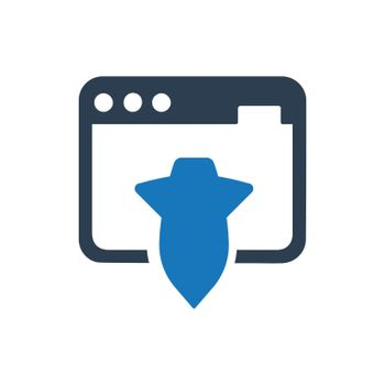 """Meticulously Designed """"Landing Page icon. Meticulously designed vector EPS file."""""""