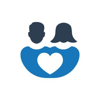 Couple, Marriage icon. Meticulously designed vector EPS file.
