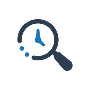 Time, History Search icon. Meticulously designed vector EPS file.
