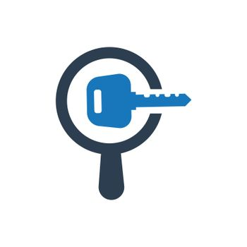 """Meticulously Designed """"Search Keyword icon. Meticulously designed vector EPS file."""""""