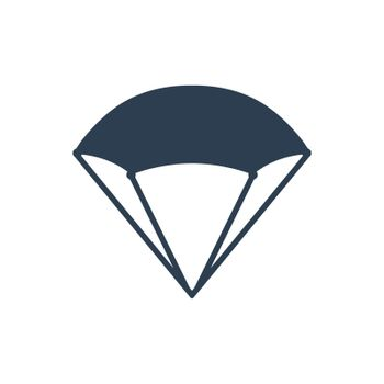 """Meticulously Designed """"Parachute / Skydrive icon. Meticulously designed vector EPS file."""""""