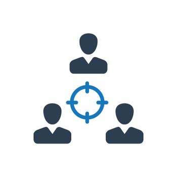 """Meticulously Designed """"Teamwork Target icon. Meticulously designed vector EPS file."""""""