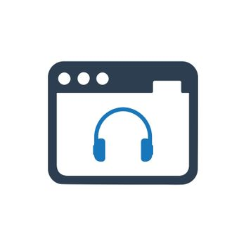 """Meticulously Designed """"Online Music icon. Meticulously designed vector EPS file."""""""