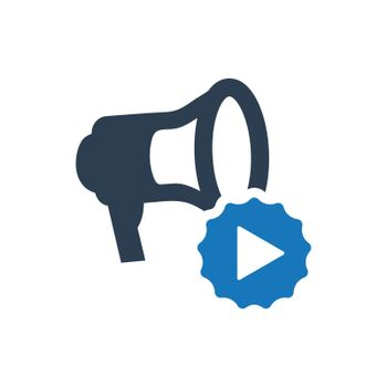 """Meticulously Designed """"Video Marketing icon. Meticulously designed vector EPS file."""""""