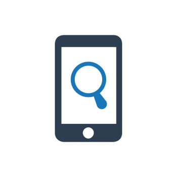 """Meticulously Designed """"Mobile Search icon. Meticulously designed vector EPS file."""""""
