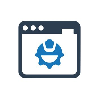"""Meticulously Designed """"Website Construction icon. Meticulously designed vector EPS file."""""""