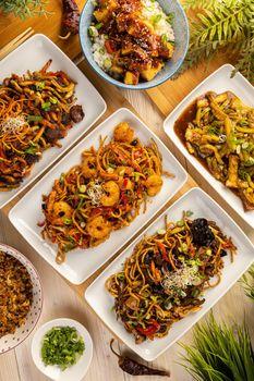 Various Asian food