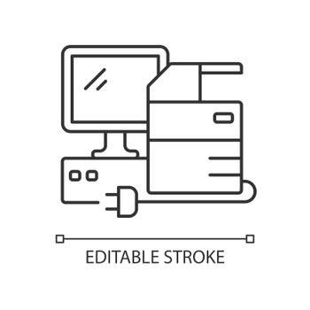 Technical equipment linear icon