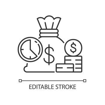 Short term deposit linear icon