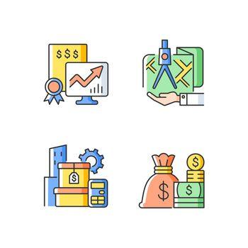 Assets management RGB color icon