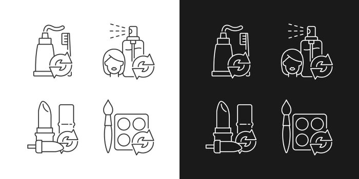 Refill and reuse linear icons set for dark and light mode