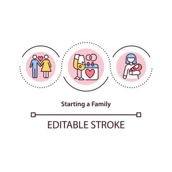 Starting family concept icon