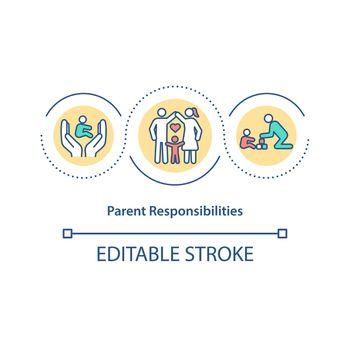 Parent responsibilities concept icon