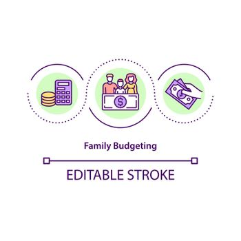 Family budgeting concept icon