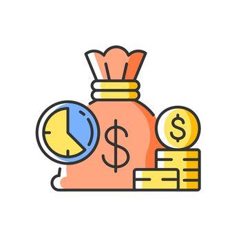 Short term deposit RGB color icon