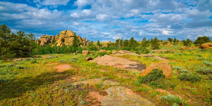 Rock formations at Vedauwoo Recreation Area, WY.