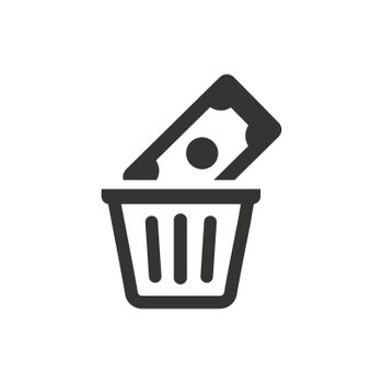 Money Waste icon. Meticulously designed vector EPS file.