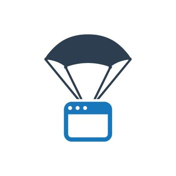 Landing Page icon. Meticulously designed vector EPS file.