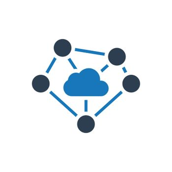 Cloud Computing / Network Connectivity icon. Meticulously designed vector EPS file.