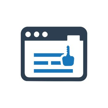 """Meticulously Designed """"Online Keyword icon. Meticulously designed vector EPS file."""""""
