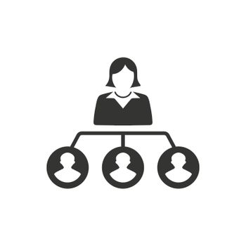 Hierarchy, Employee Structure Icon