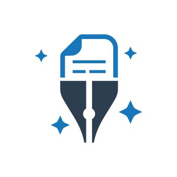 """Meticulously Designed """"Copy writing icon. Meticulously designed vector EPS file."""""""