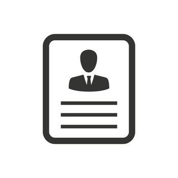 Employee Resume Icon