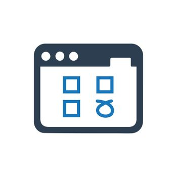 Web Survey / Questionnaire icon. Meticulously designed vector EPS file.