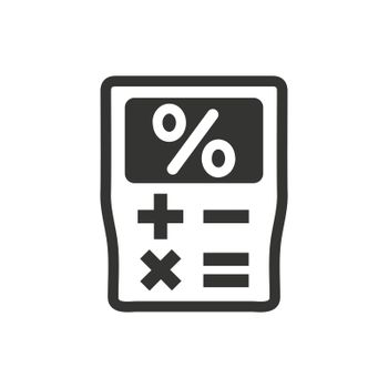 Calculator icon. Meticulously designed vector EPS file.