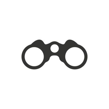Binocular icon. Meticulously designed vector EPS file.